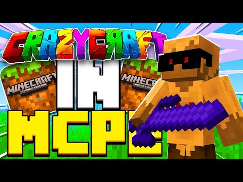 How To Download CRAZY CRAFT IN MCPE!!(Minecraft Pocket Edition)