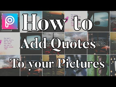 How to Add Quotes/Words to your Pictures | Picsart |