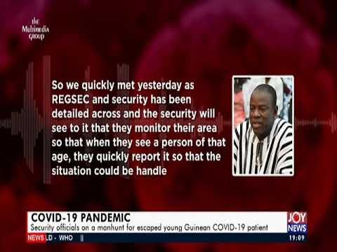 Manhunt for escape COVID-19 Patient - Joy News Prime (31-3-20)