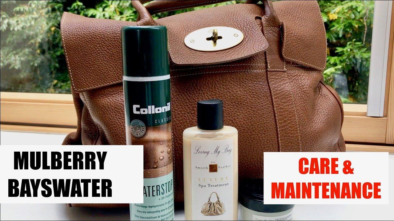 Mulberry Bayswater Bag   Care   Maintenance - YouTube 1d3e2b74b84b5