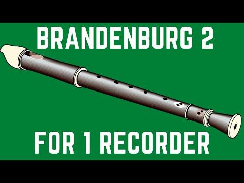 Bach: Brandenburg Concerto #2-1 For One Alto Recorder