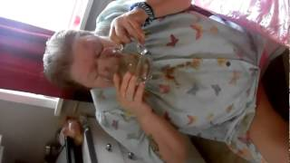60 year old woman does cinnamon challenges