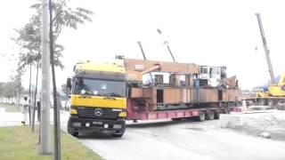 low loader 4 axle unloading jack pile 800 ton