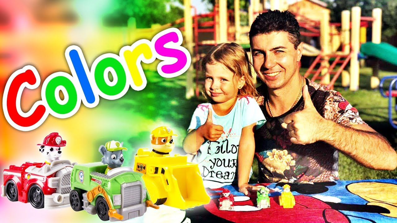 Color Songs | Learn Colours & Paw Patrol | Preschool Colors Nursery ...