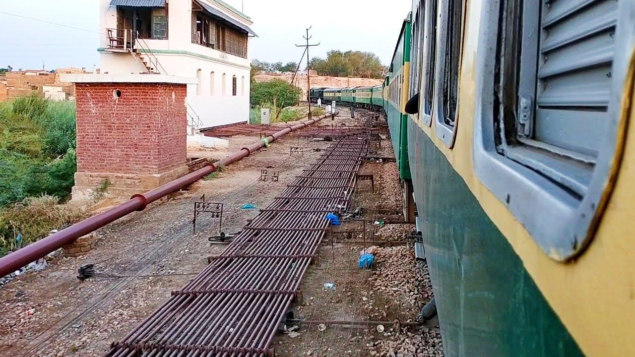 Pakistan Railways:34dn Pak Busines Express departing Rohri Junction