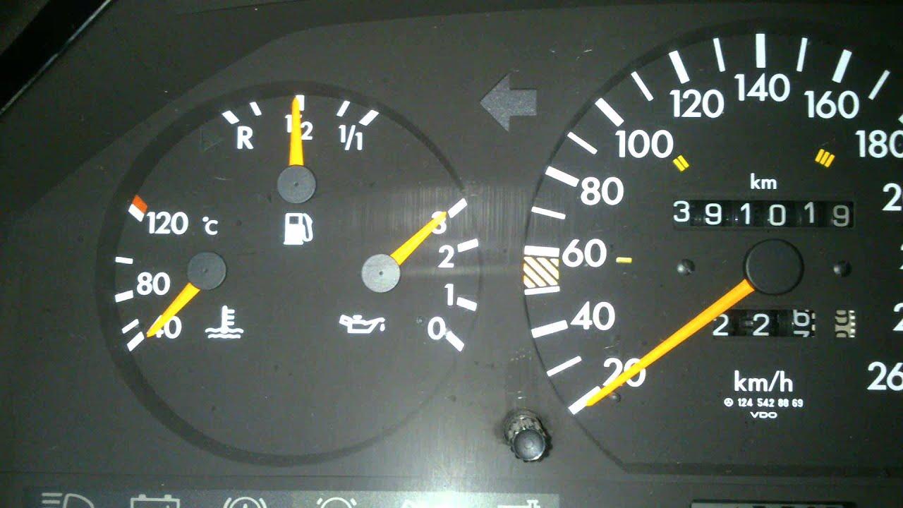 Mercedes E124. Скорость нарастания давления масла.