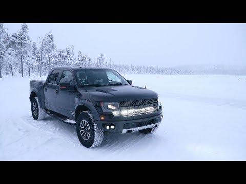 6.2 ЛИТРА V8 в ПИКАПЕ! Ford Raptor на замерзшем озере!