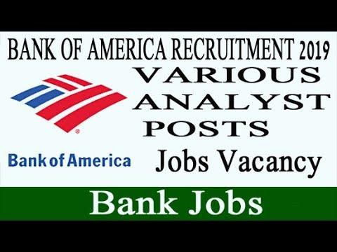 Bank of America Recruitment 2019 - Bank Jobs Vacancy