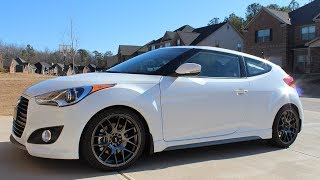 hyundai veloster turbo 2013 updated review of solo turbo v mach 2n1 exhaust straight piped