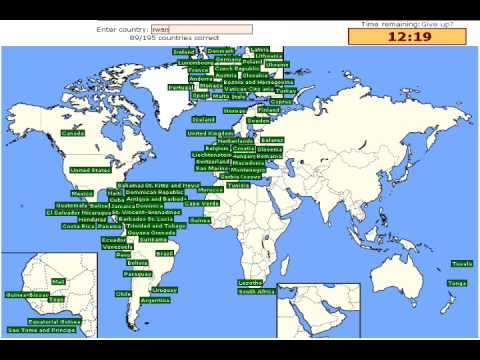 Sporcle Countries Of The World YouTube - Countries of the world quiz