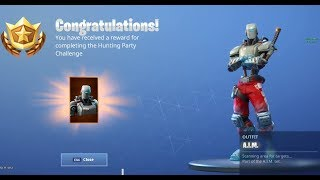 Fortnite Hunting Party Challenge Completion!! New A.I.M Skin Reveal!! | Week 7|