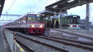 西鉄8000形 大善寺駅に入線~発車