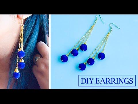 How to make earrings at home | DIY earrings | jewellery making
