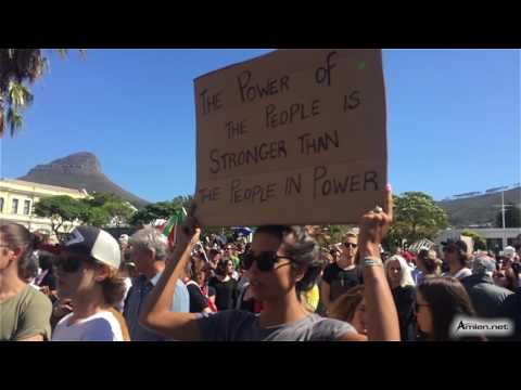 Zuma Must Fall protest in Cape Town, South Africa