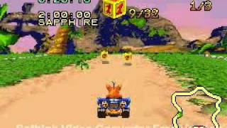 Crash Nitro Kart (GBA) - Part 38: Inferno Island (Relic Race)