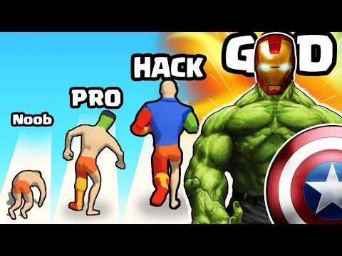 EVOLVING the STRONGEST SUPERHERO in Mashup Hero  
