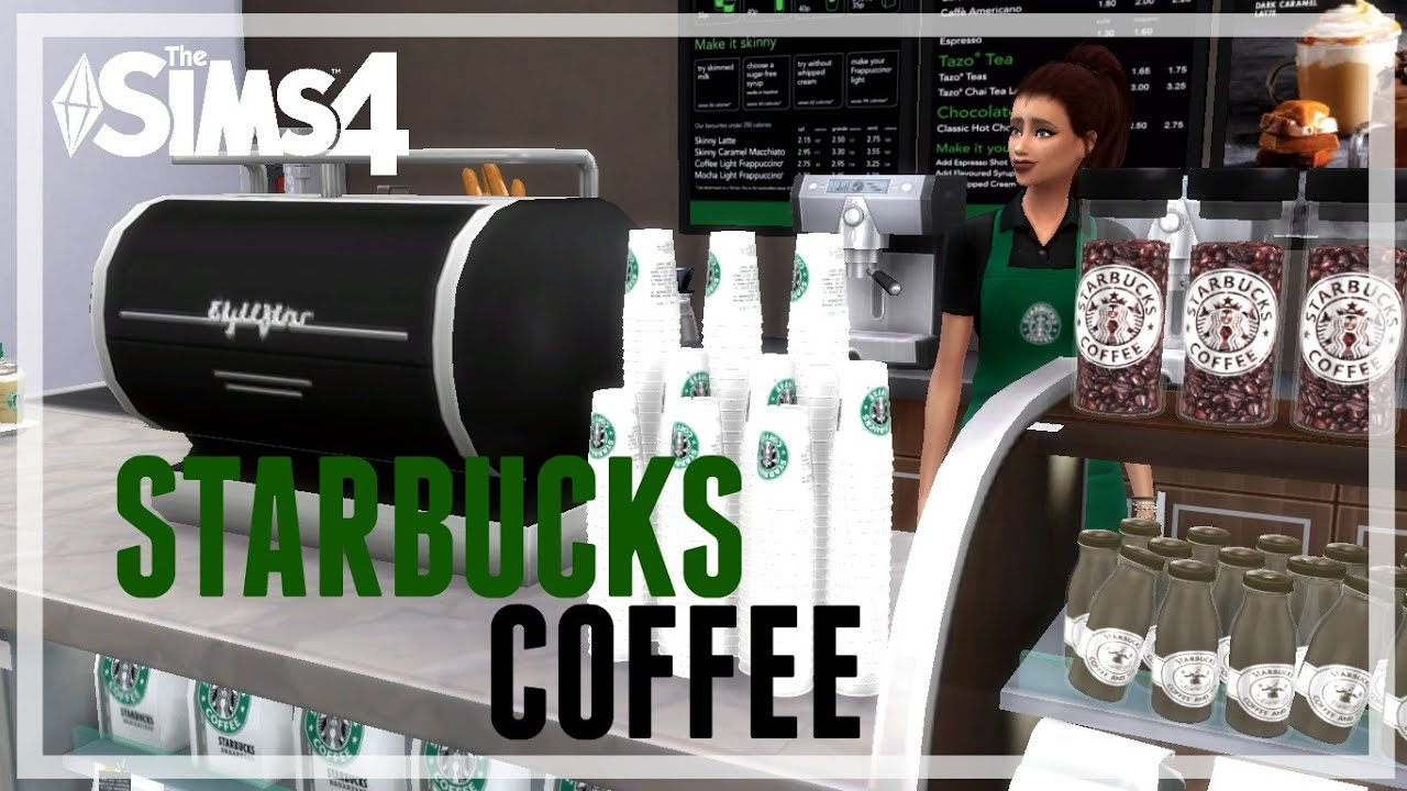 The Sims 4 House Build Starbucks Coffee Shop Youtube