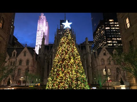 NYC LIVE Night Walk - Rockefeller Center, Times Square, Bryant Park (November 23, 2019)