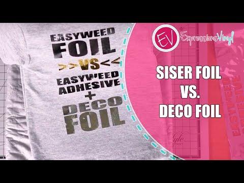 Siser Foil vs. Deco Foil