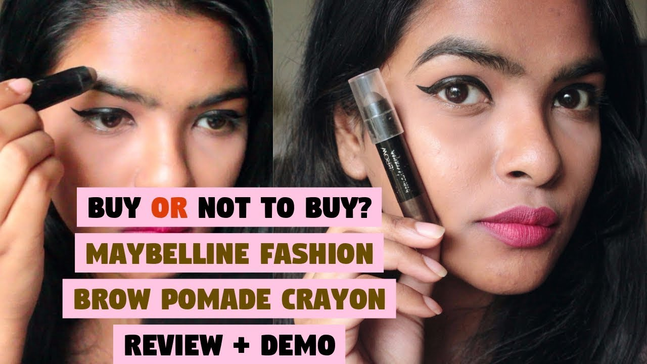 e75a54ba390 Maybelline Fashion Brow Pomade Crayon REVIEW + DEMO || Does it gives you  natural looking eyebrows?
