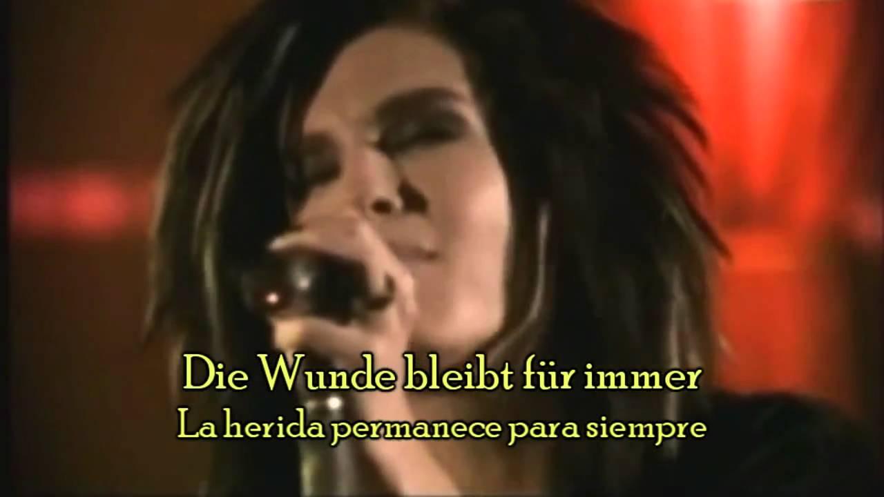 Tokio Hotel Stich Ins Glück Letra Español Y Aleman