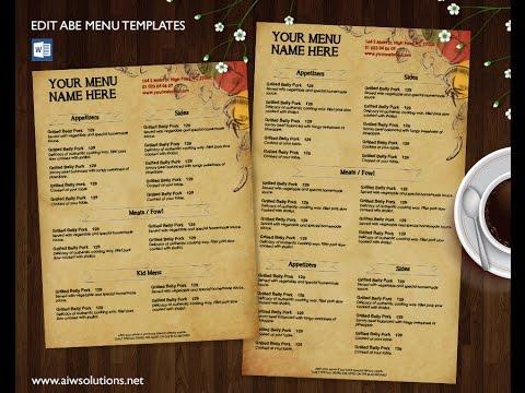 Restaurant Menuid27 Brochure Templates Creative Market