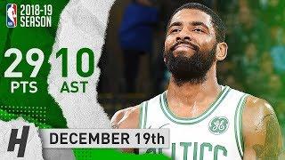 Kyrie Irving Full Highlights Celtics vs Suns 2018.12.19 - 29 Pts, 10 Assists