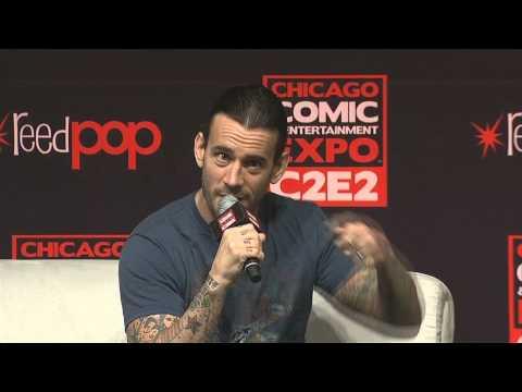 CM Punk Q&A panel at C2E2