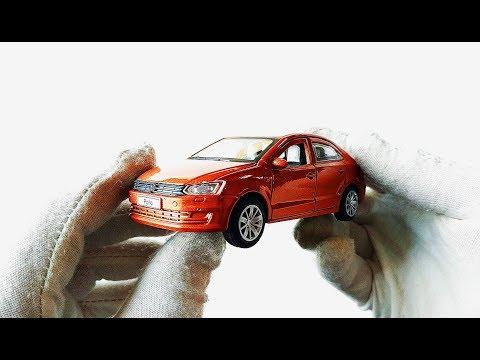 МАШИНКИ ИГРУШКИ. Моделька машины Volkswagen Polo / Фольксваген Поло распаковка и обзор.