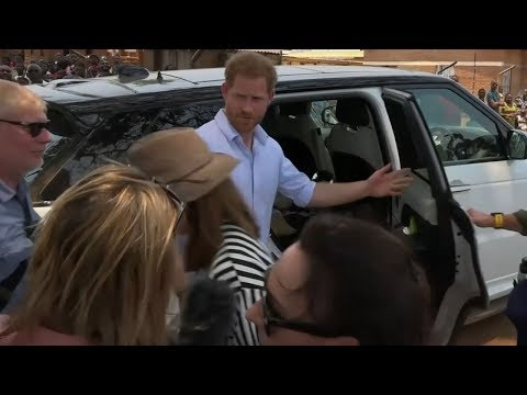 Prince Harry snaps at Sky News reporter during Malawi hospit