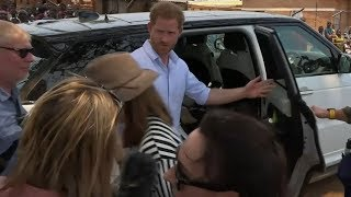 Prince Harry snaps at Sky News reporter during Malawi hospital visit