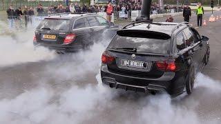 900HP BMW 335i E91 vs Mercedes C63 AMG - BRUTAL DUO BUROUNTS!!