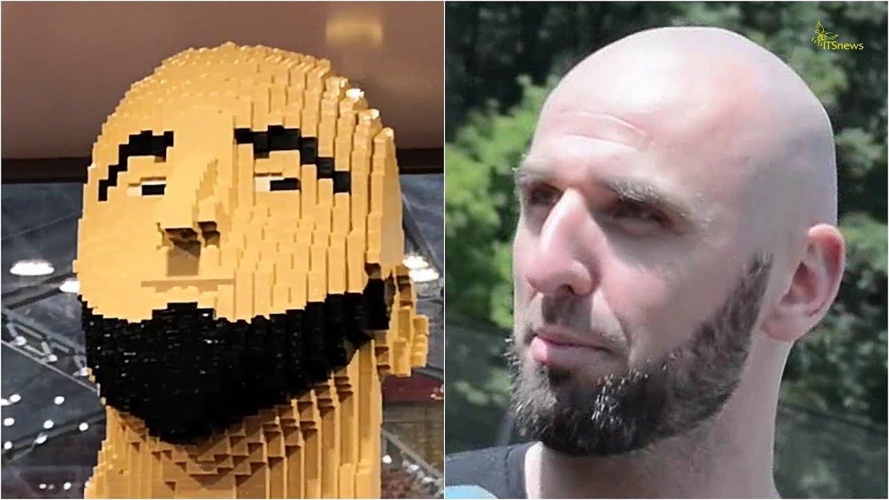 Marcin Gortat z klocków Lego. Zimowy Narodowy 2017.