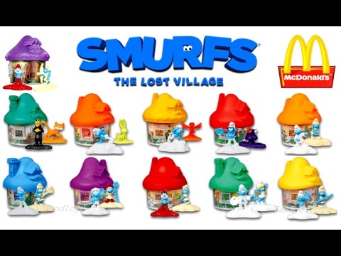 2017 FULL WORLD SET McDONALD'S SMURFS MOVIE HAPPY MEAL TOYS 11 KIDS COLLECTION REVIEW EUROPE ASIA US