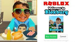 BLOXBURG ACCESS AT 5 YEARS OLD!!! DAD BUYS ME ROBUX | FAMBAM GAMING