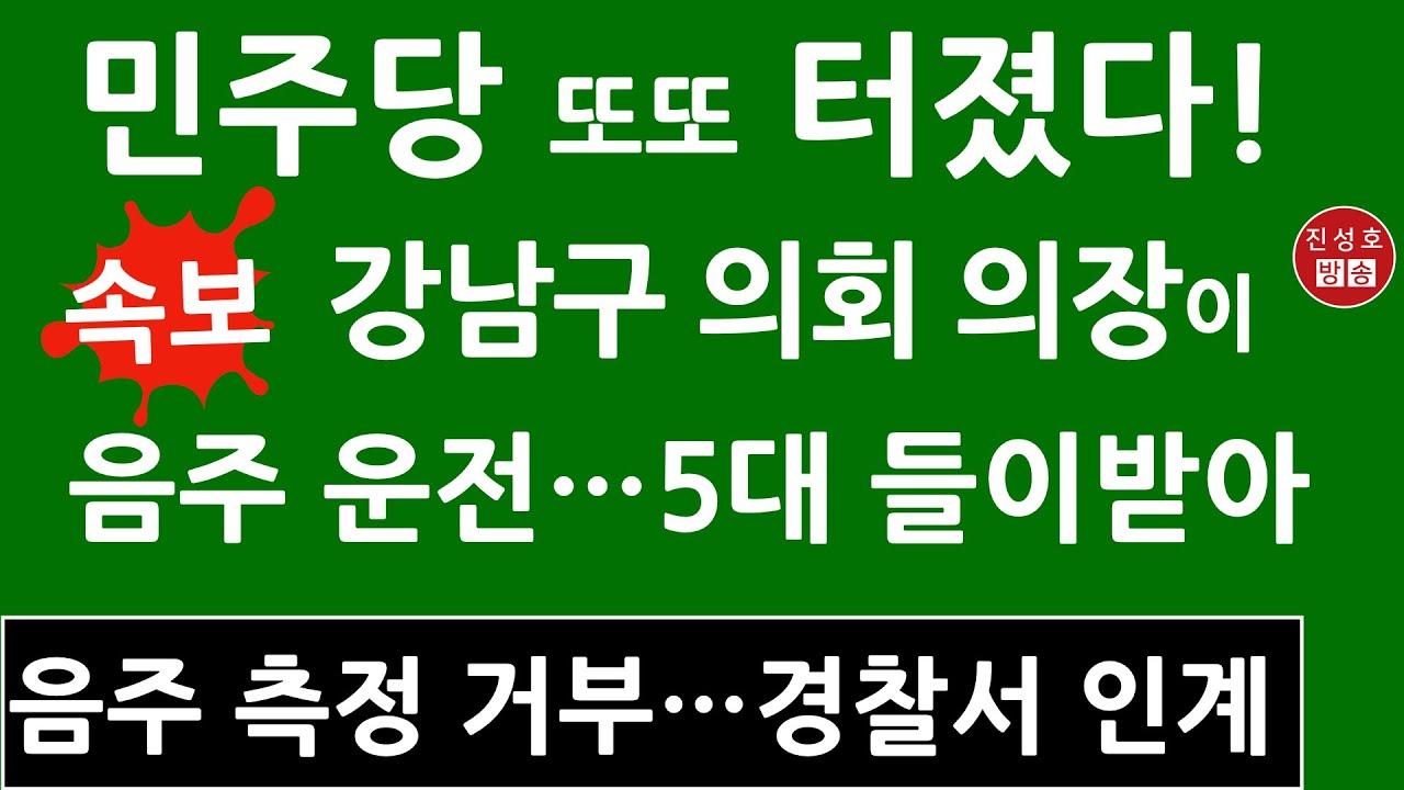 속보! 잡고 보니 민주당 강남구 의회 의장! (진성호의 융단폭격)
