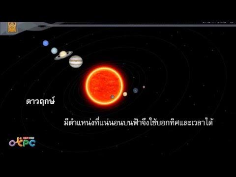ตำแหน่งของกลุ่มดาว 2 - สื่อการเรียนการสอน วิทยาศาสตร์ ม.3