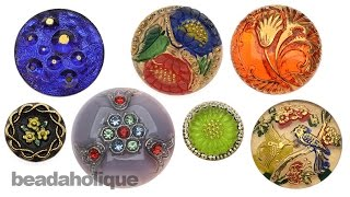 Show & Tell: Czech Glass Flat Back Button Cabochons