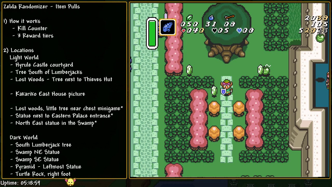 Zelda Alttp Random Useful Information Pull Items Youtube