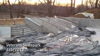 Construction Update #7: Veterans Skatepark 2/5/12 - Woodbridge, Va - Thunderwood