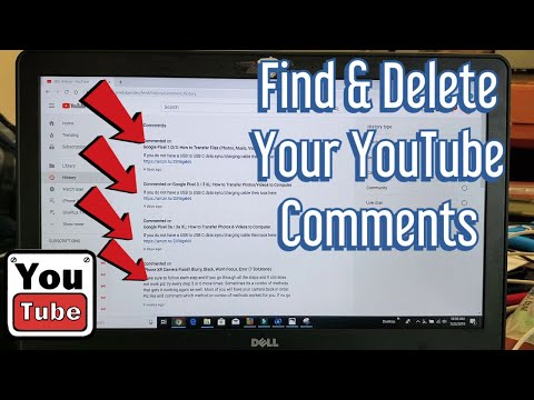 2019: How To Find \u0026 Delete YOUR YouTube Comments (2019)