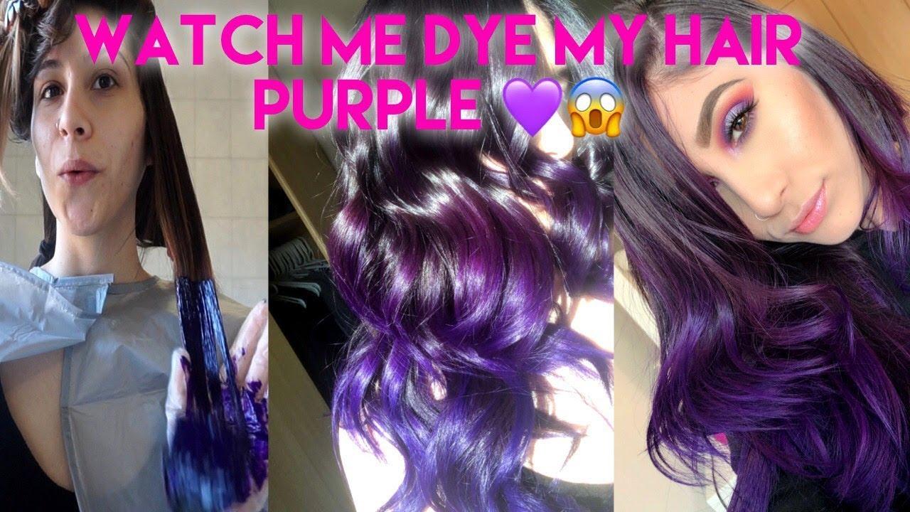 Omg I Dyed My Hair Purple At Home Diy No Bleach