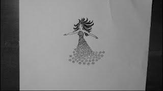 Silueta de Mujer - Dibujo Tribal. Texturas. Silhouette Woman - Tribal. Textures.