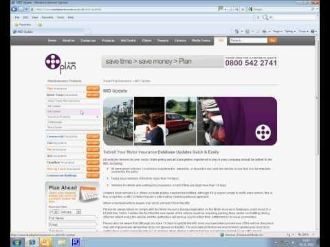 Motor Insurance Database | Fill in the MID form on tradeplaninsurance.co.uk