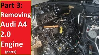 B8.5 Audi A4 Remove Valve\Cam Cover, Timing Chain, Alternator, Cam Bridge & Camshafts from bad motor