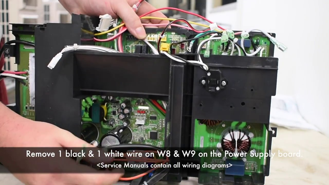 fujitsu aou24rlxfz wiring diagram 1jz gte ecu board disassembly cassettes multi zones youtube
