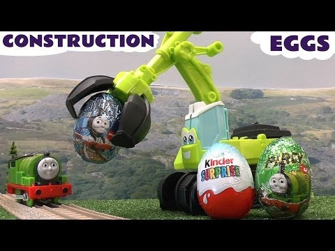 Play Doh Kinder Surprise Eggs Thomas & Friends Peppa Pig Disney Cars Egg Playdough Diggin Rigs Toys