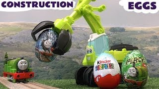 play doh kinder surprise eggs thomas the train peppa pig disney cars egg playdough diggin rigs toys