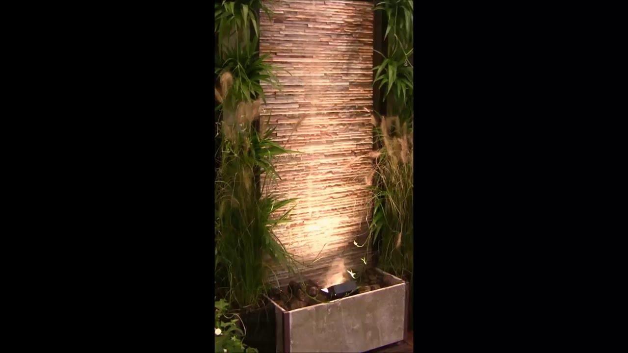 terrassenbrunnen wasserwand glycine - youtube, Gartengestaltung