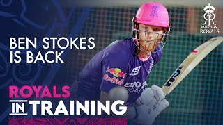 Ben Stokes back in training with the Royals
